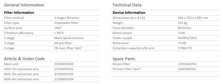 SMK-910-extra-strong-stationay-single-arm-datasheet